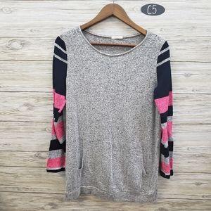 12 pm Mon Ami Gray Long Sleeve Sweater